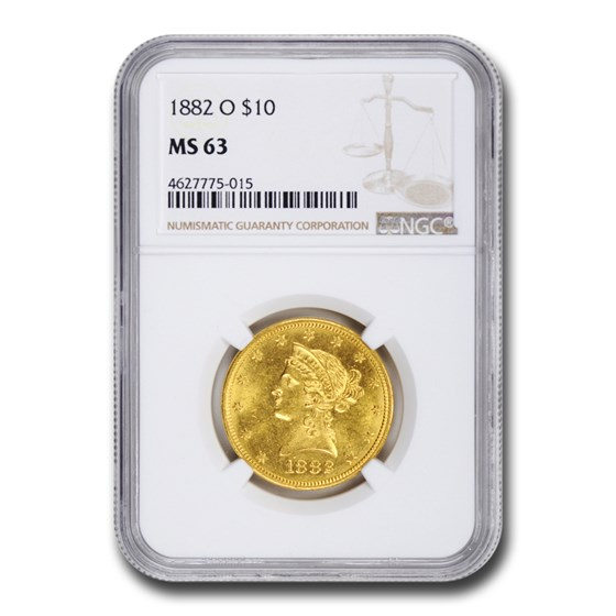 1882-O $10 Liberty Gold Eagle MS-63 NGC