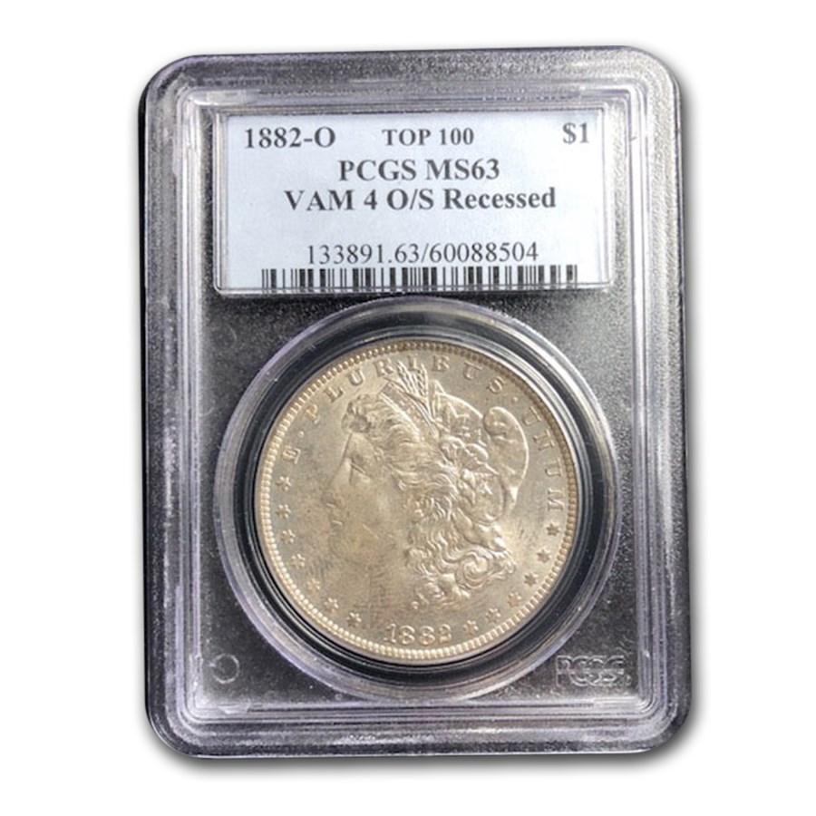 1882-O Morgan Dollar MS-63 PCGS (VAM-4 O/S Recessed)