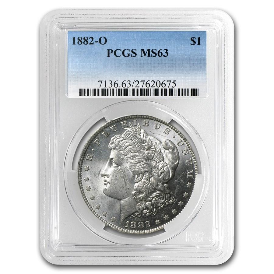 1882-O Morgan Dollar MS-63 PCGS