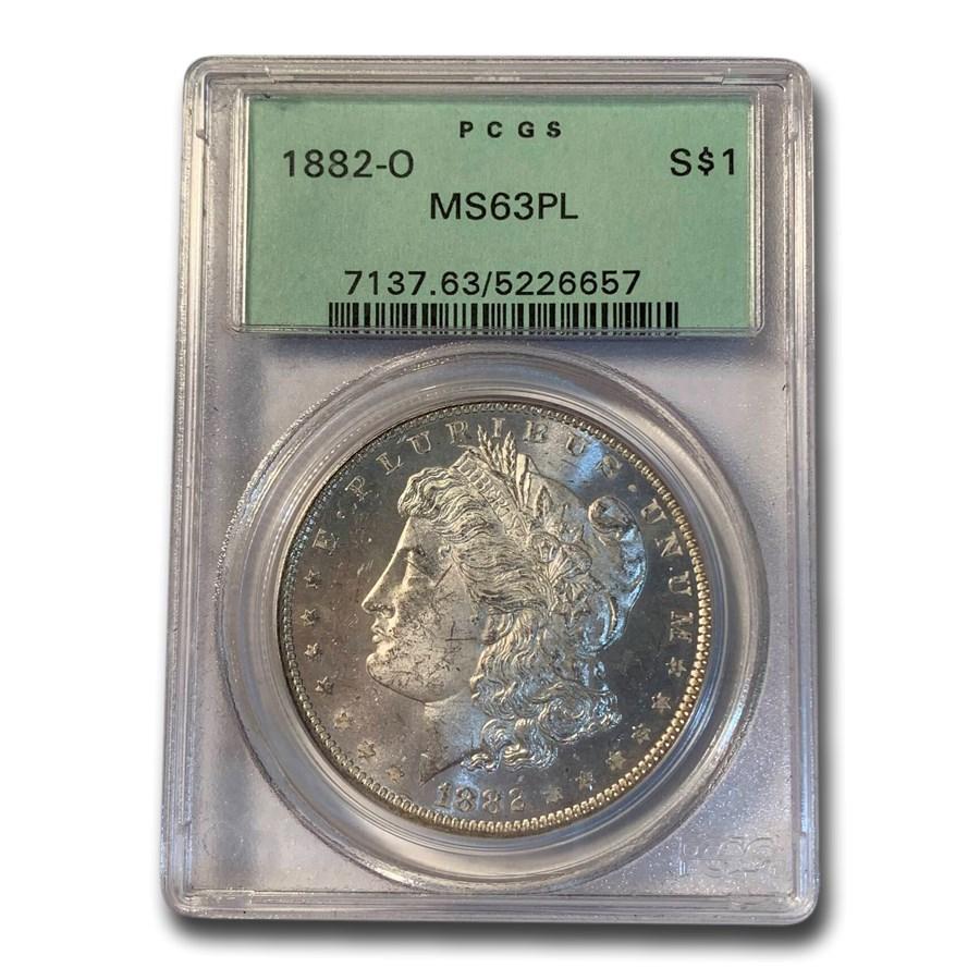 1882-O Morgan Dollar MS-63 PL PCGS