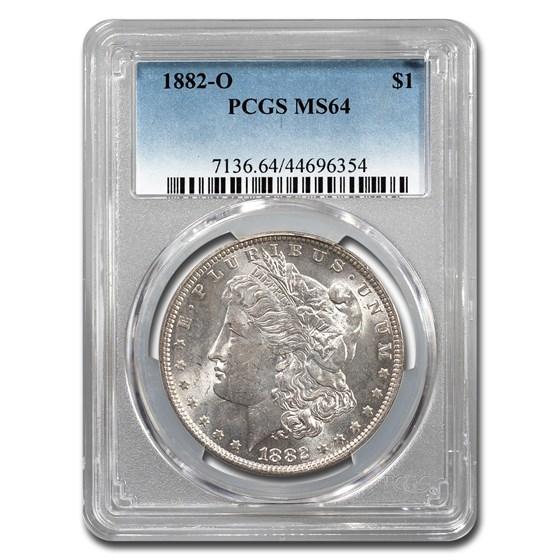 1882-O Morgan Dollar MS-64 PCGS