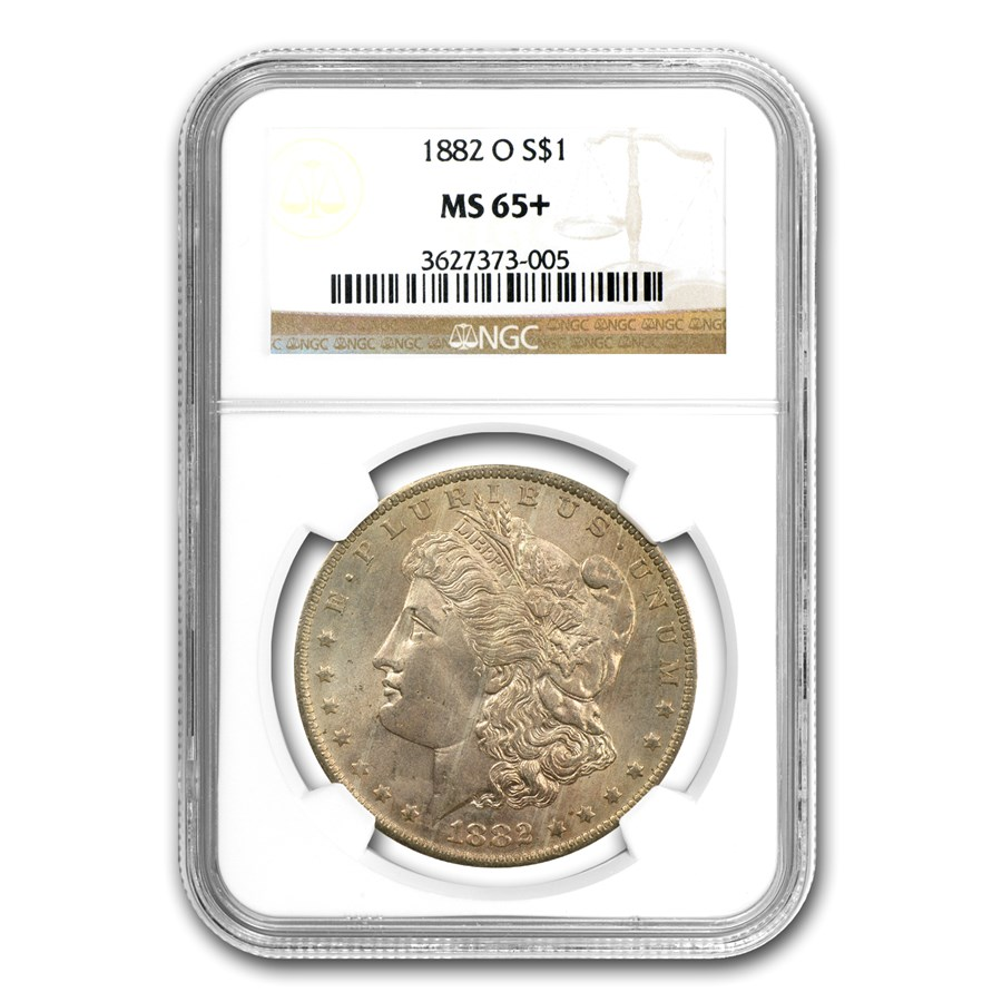 1882-O Morgan Dollar MS-65+ NGC