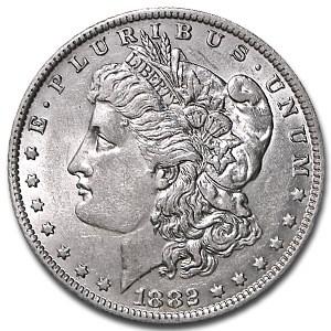 1882-O/S Morgan Dollar AU-55