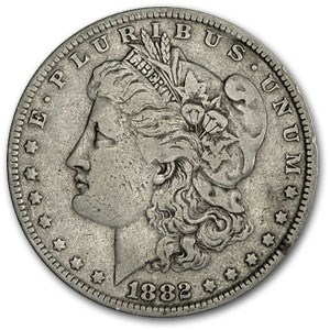 1882-O/S Morgan Dollar Fine