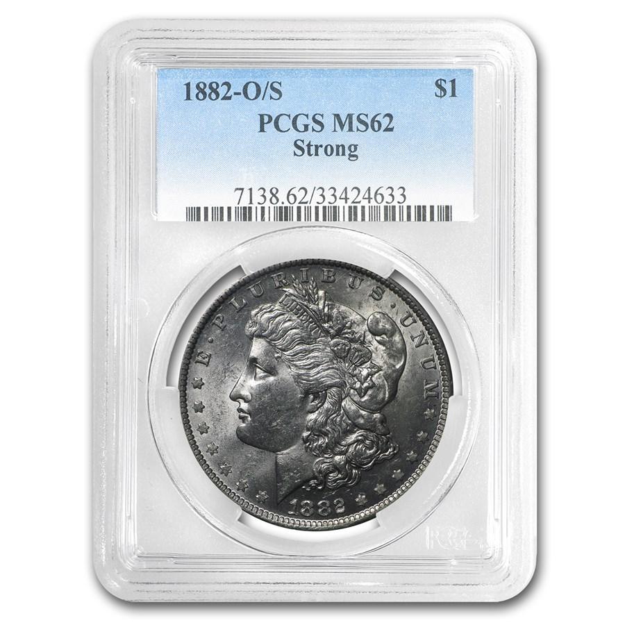 1882-O/S Morgan Dollar MS-62 PCGS (Strong)