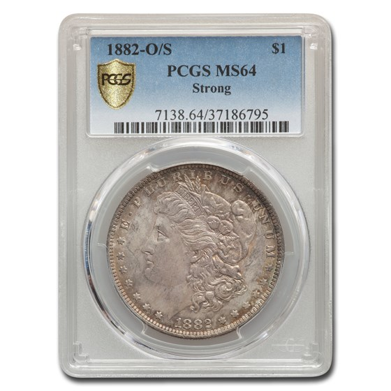 1882-O/S Morgan Dollar MS-64 PCGS (Strong)