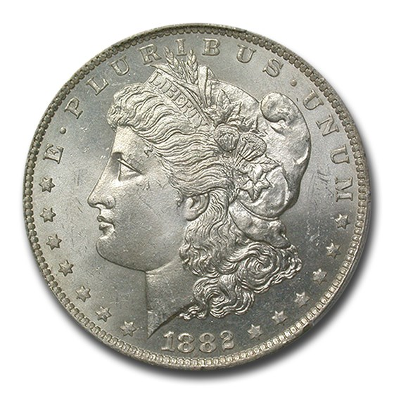 1882-O/S Morgan Dollar MS-64 PCGS (Weak)