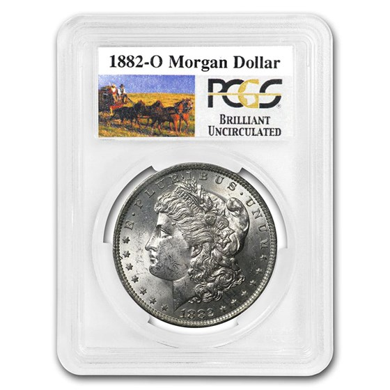 1882-O Stage Coach Morgan Dollar BU PCGS