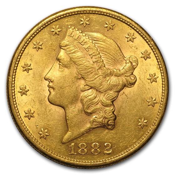1882-S $20 Liberty Gold Double Eagle AU