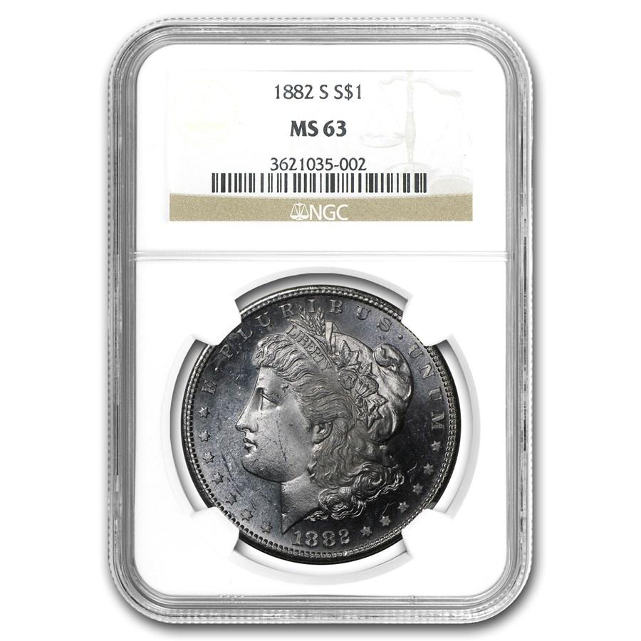 1882-S Morgan Dollar MS-63 NGC