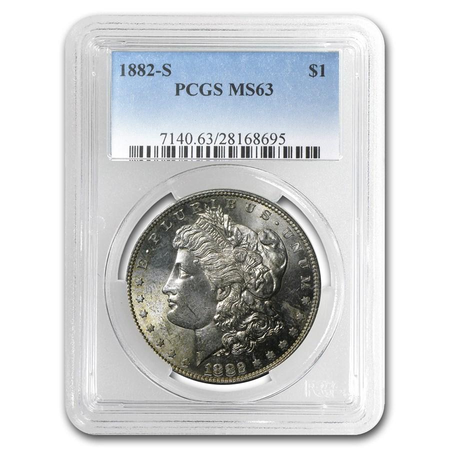 1882-S Morgan Dollar MS-63 PCGS