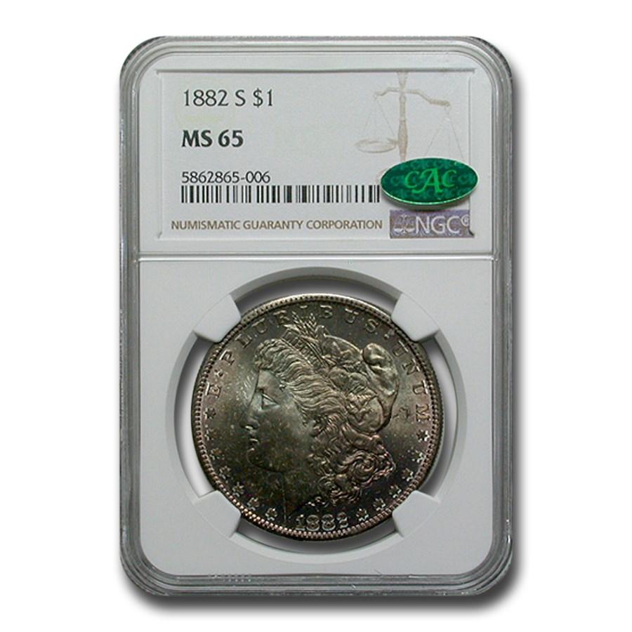 1882-S Morgan Dollar MS-65 NGC CAC