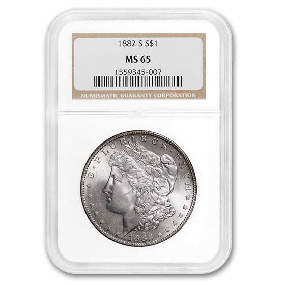 1882-S Morgan Dollar MS-65 NGC