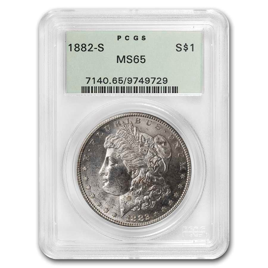 1882-S Morgan Dollar MS-65 PCGS