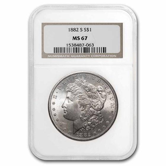 1882-S Morgan Dollar MS-67 NGC (Obverse/Reverse Toning)