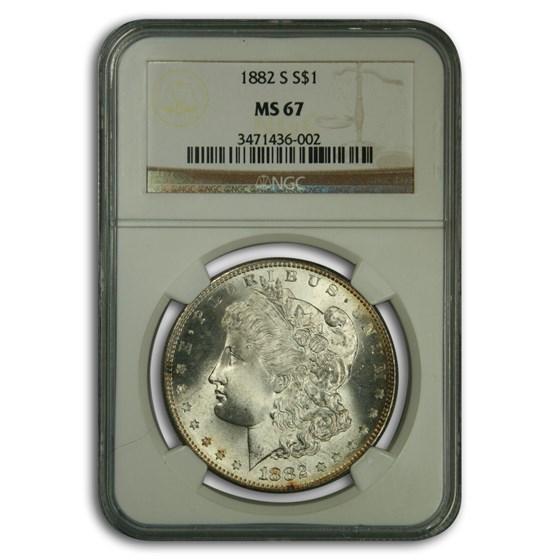 1882-S Morgan Dollar MS-67 NGC