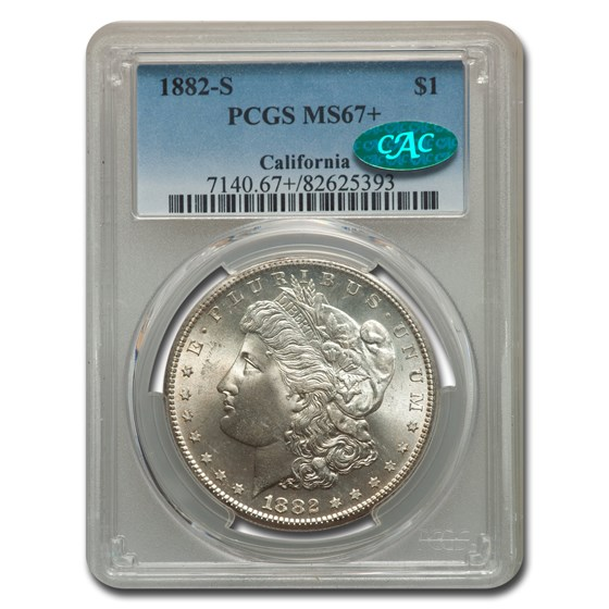 1882-S Morgan Dollar MS-67+ PCGS CAC