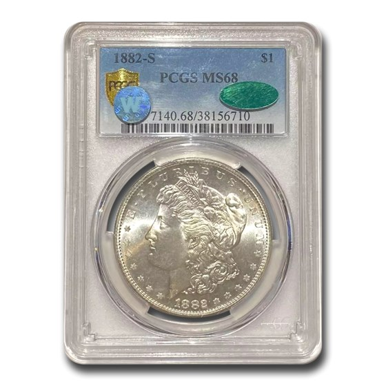 1882-S Morgan Dollar MS-68 PCGS CAC