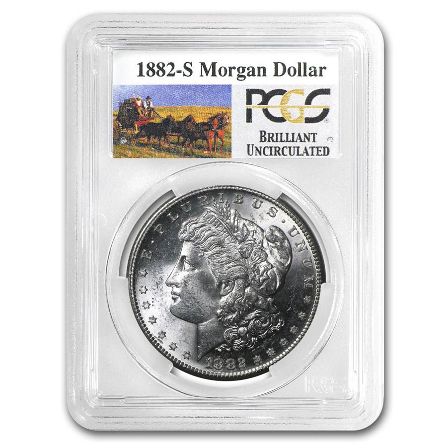 1882-S Stage Coach Morgan Dollar BU PCGS