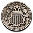 1882 Shield Nickel Fine