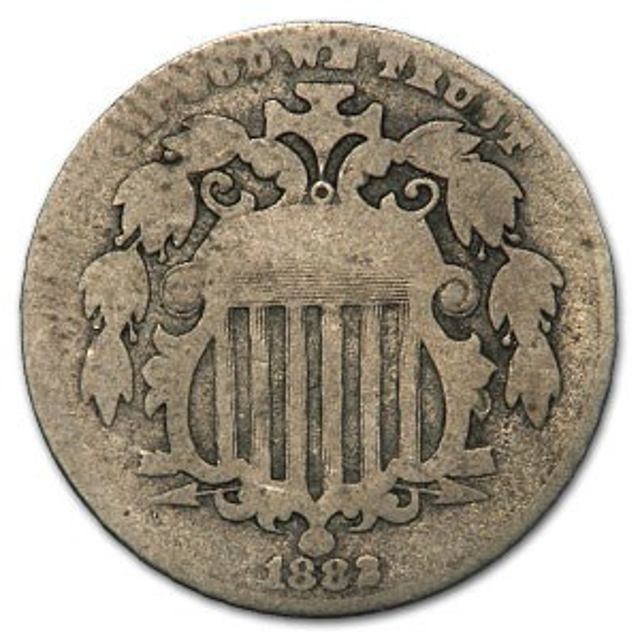 1882 Shield Nickel Good