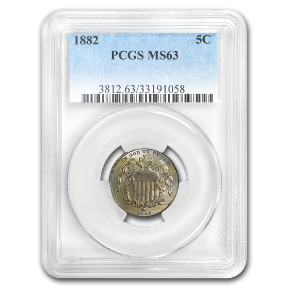 1882 Shield Nickel MS-63 PCGS