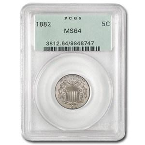 1882 Shield Nickel MS-64 PCGS (Old Green Holder)