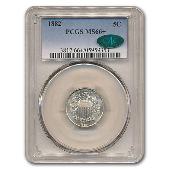 1882 Shield Nickel MS-66+ PCGS CAC