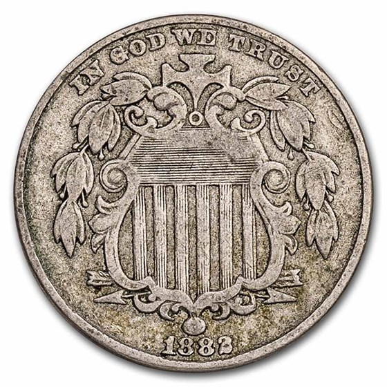 1882 Shield Nickel VF