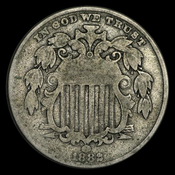 1882 Shield Nickel VG