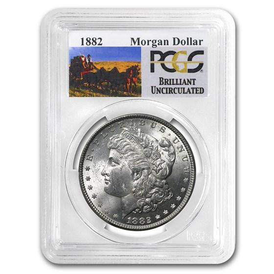 1882 Stage Coach Morgan Dollar BU PCGS