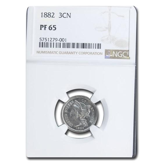 1882 Three Cent Nickel PF-65 NGC