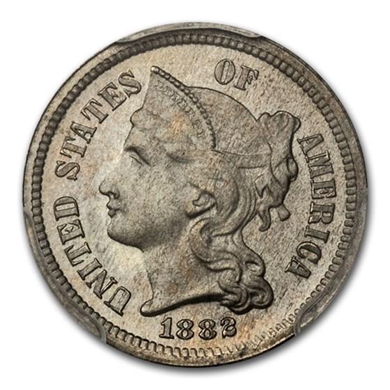 1882 Three Cent Nickel PR-66 PCGS