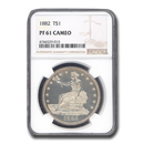 1882 Trade Dollar PF-61 Cameo NGC