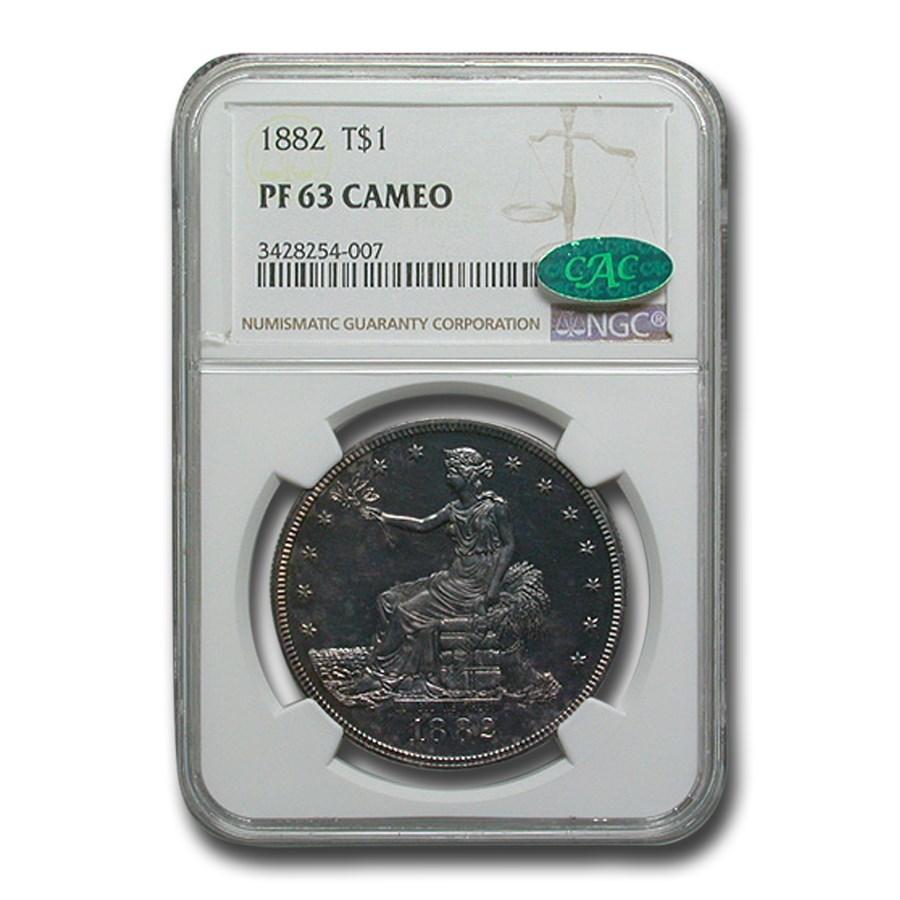 1882 Trade Dollar PF-63 Cameo NGC CAC