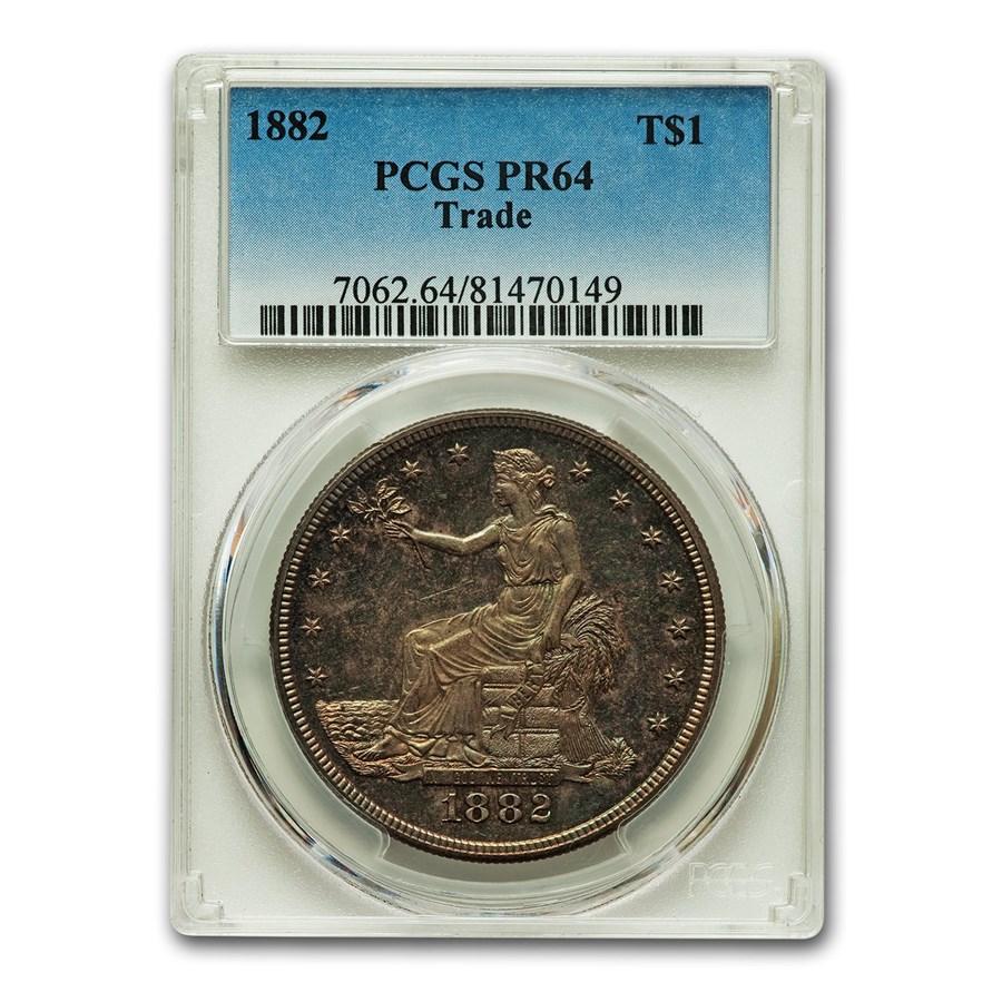 1882 Trade Dollar PR-64 PCGS
