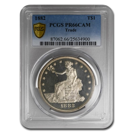 1882 Trade Dollar PR-66 Cameo PCGS