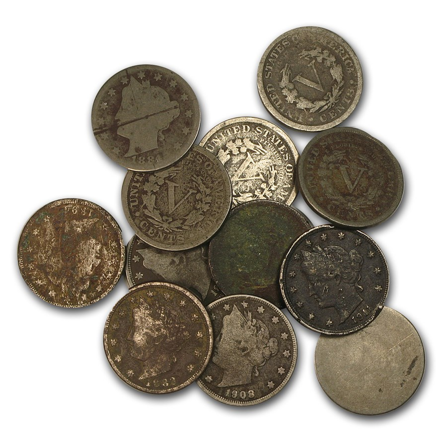 1883-1912 Liberty Head V Nickel Culls