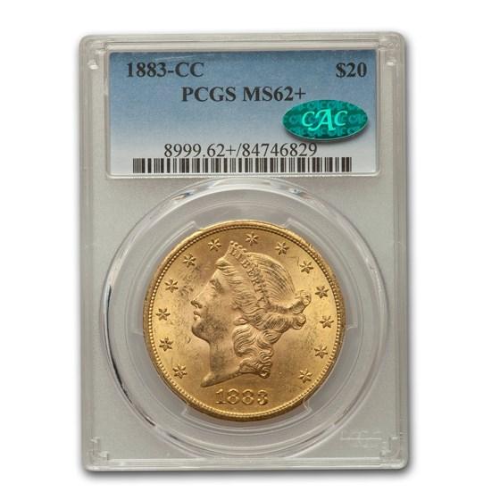 1883-CC $20 Liberty Gold Double Eagle MS-62+ PCGS CAC