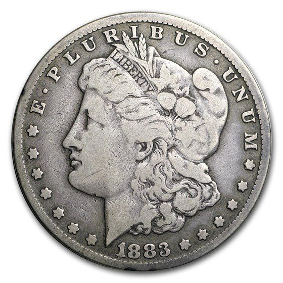 1883-CC Morgan Dollar Fine