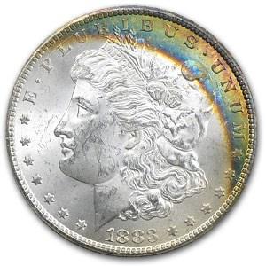 1883-CC Morgan Dollar MS-63 (GSA, Rainbow Obv)