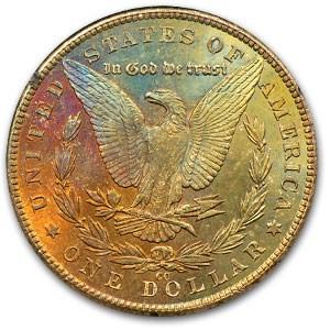 1883-CC Morgan Dollar MS-63 (GSA, Rev Rainbow)