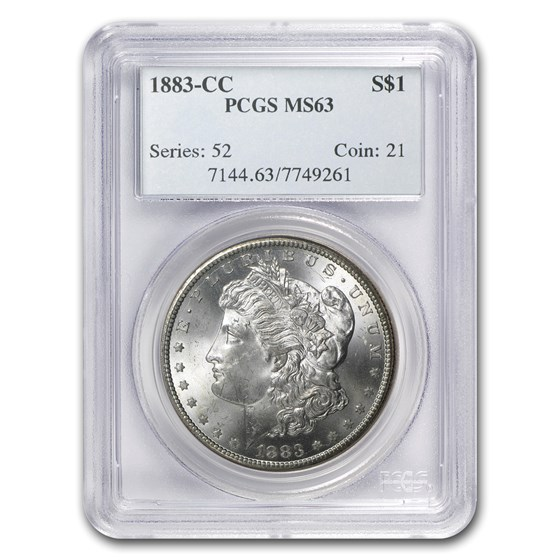 1883-CC Morgan Dollar MS-63 PCGS