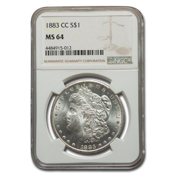1883-CC Morgan Dollar MS-64 NGC