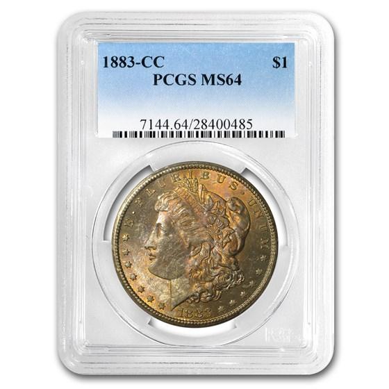 1883-CC Morgan Dollar MS-64 PCGS (Gorgeous Toning)