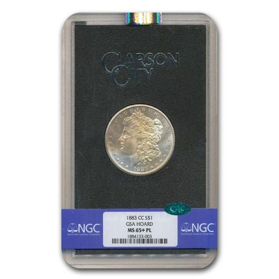 1883-CC Morgan Dollar MS-65+ NGC CAC (PL, GSA)