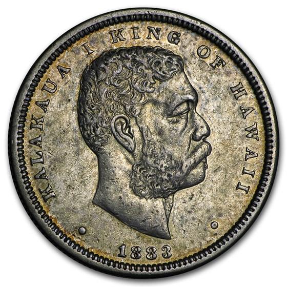 1883 Hawaii Half Dollar Kalakaua I AU
