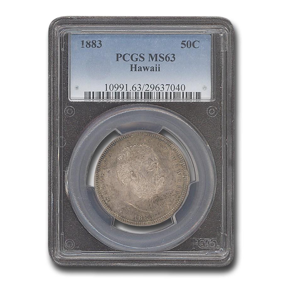 1883 Hawaii Half Dollar Kalakaua I MS-63 PCGS