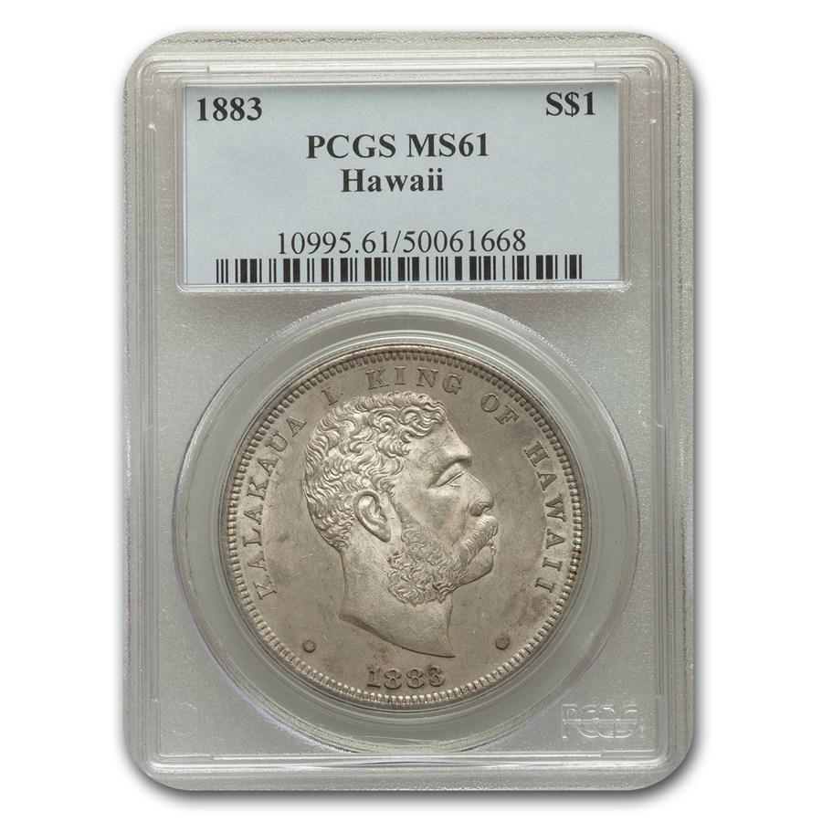 1883 Hawaii Half Dollar MS-61 PCGS