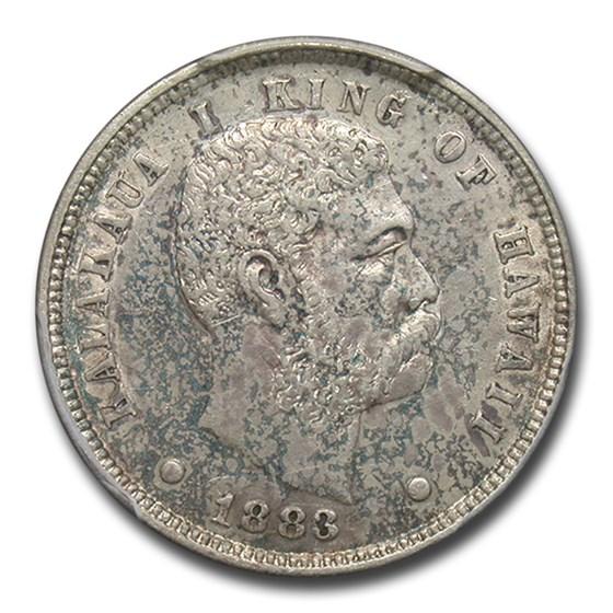 1883 Hawaii Ten Cents AU-53 PCGS